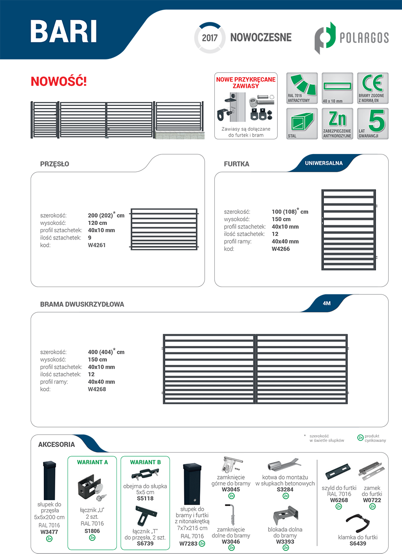 Ogrodzenie Bari - karta produktu