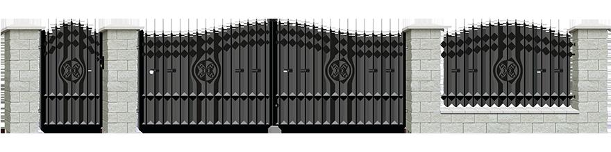 Ogrodzenie Malaga III - wariant 1