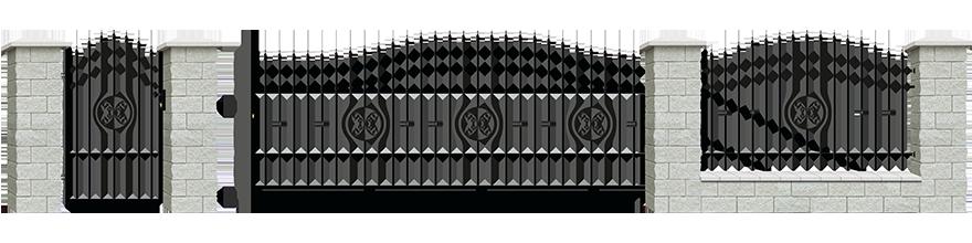 Ogrodzenie Malaga III - wariant 3