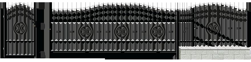 Ogrodzenie Malaga III - wariant 4
